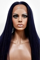 Human Hair Blend Swiss Lace Front Wig Modu Selfie Star SX53-COTY