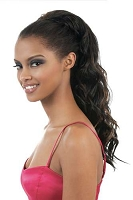 2 in 1 Curlable 1/2wig ponytail curly OL24