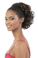 2 in 1 Curlable 1/2wig ponytail curly OL11