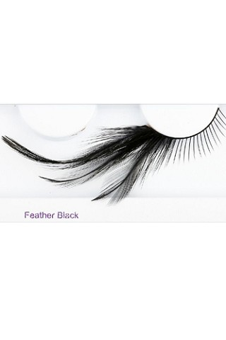 You Get 6 Pairs - Feather Elashes Black