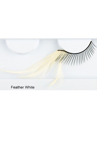 You Get 6 Pairs - Feather Elashes White